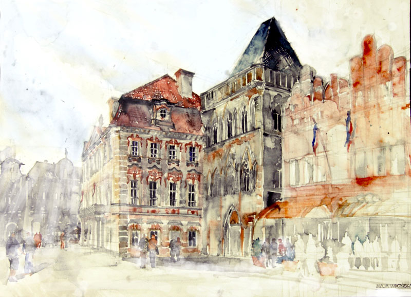 watercolor cityscapes by maja wronska takmaj poland (1)