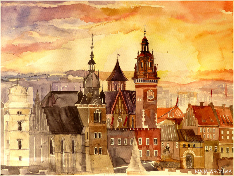 watercolor cityscapes by maja wronska takmaj poland (10)