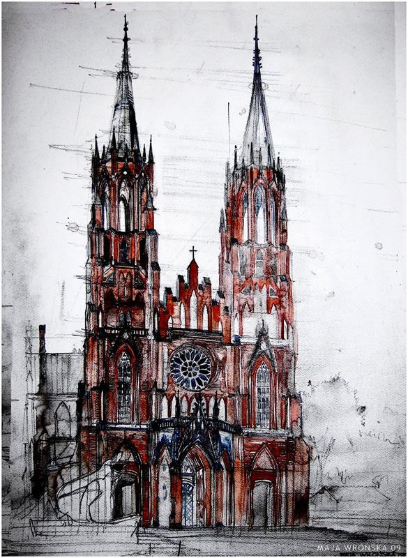 watercolor cityscapes by maja wronska takmaj poland (6)