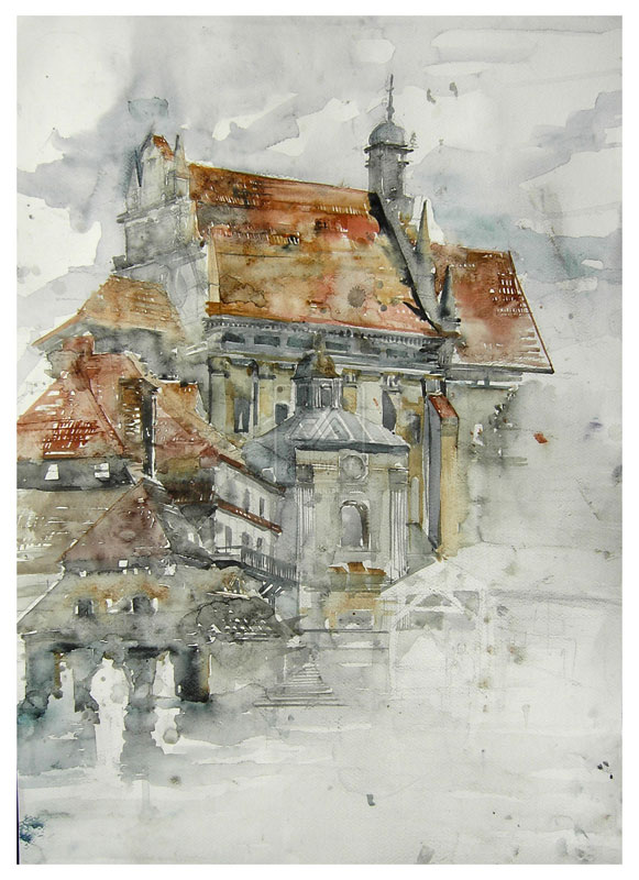 watercolor cityscapes by maja wronska takmaj poland (7)