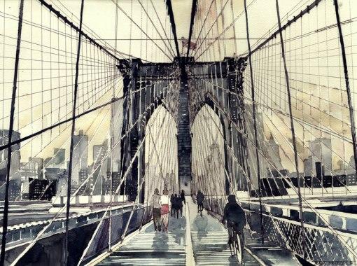 watercolor cityscapes by maja wronska takmaj poland (9)