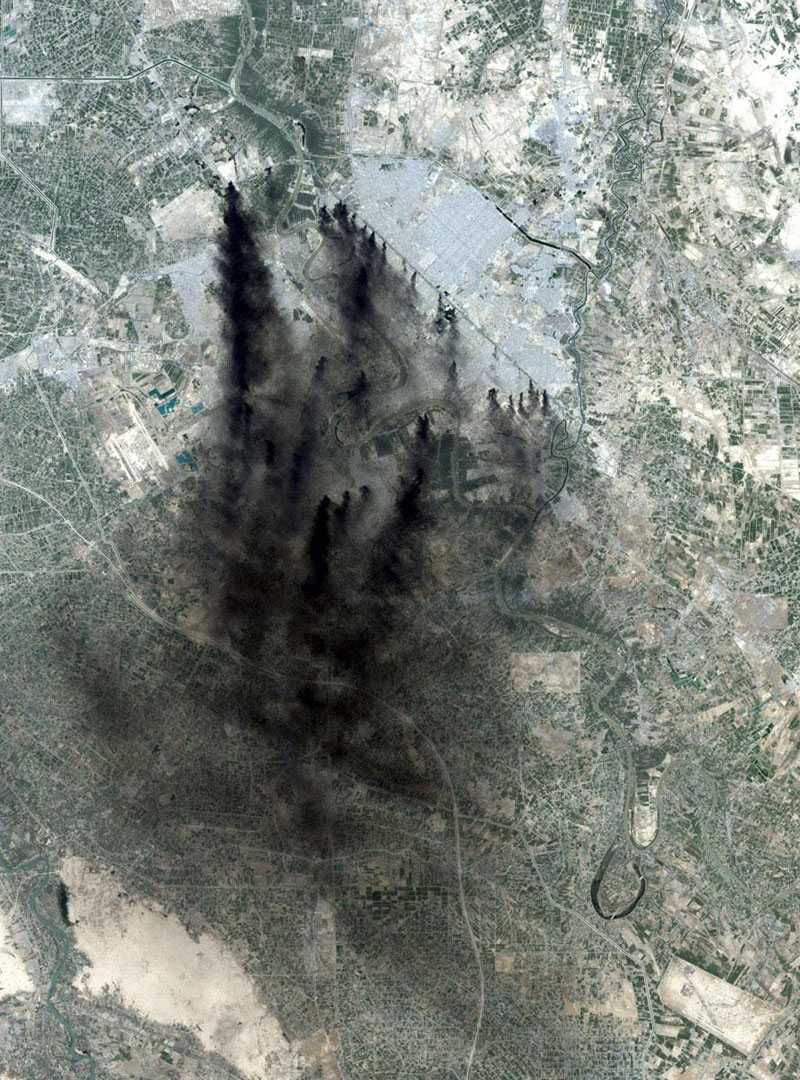 baghdad iraq landsat 15 Surreal Satellite Images of Earth