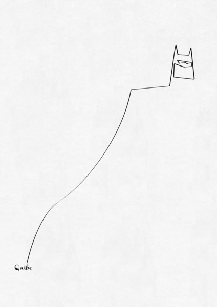 batman one line portrait by quibe One Line Portraits by Quibe
