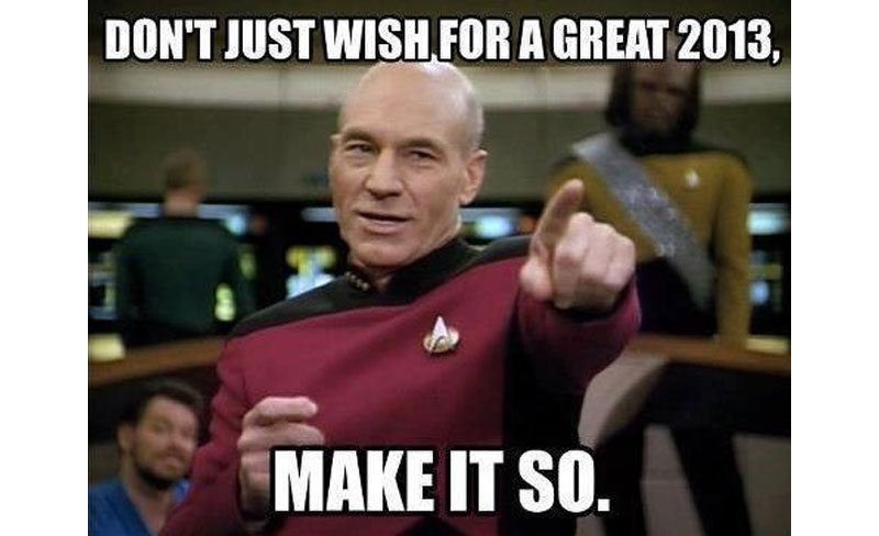 dont just wish for a great 2013 make it so picard star trek tng The Shirk Report   Volume 195
