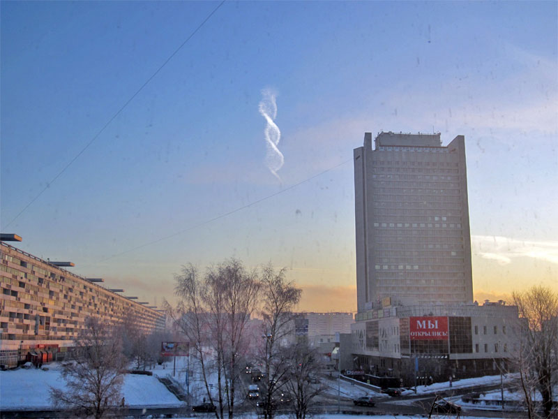 Strange Double Helix Cloud Spotted inRussia