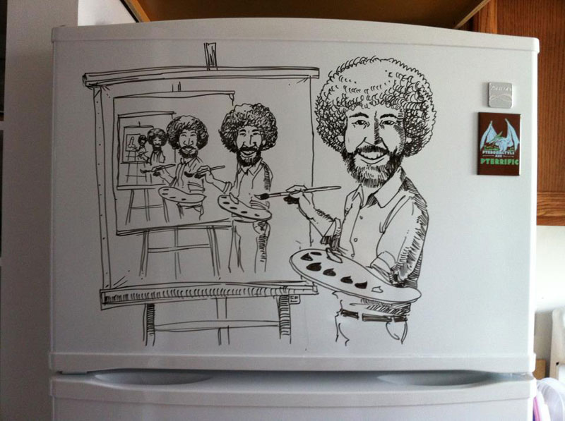 fridge drawings charlie layton freezer fridays (1)
