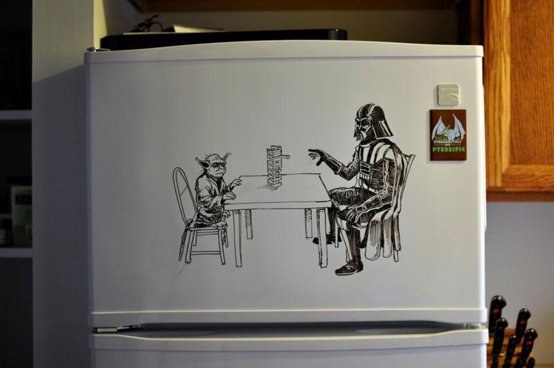 fridge drawings charlie layton freezer fridays (15)