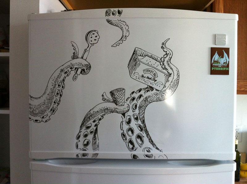 fridge drawings charlie layton freezer fridays (4)
