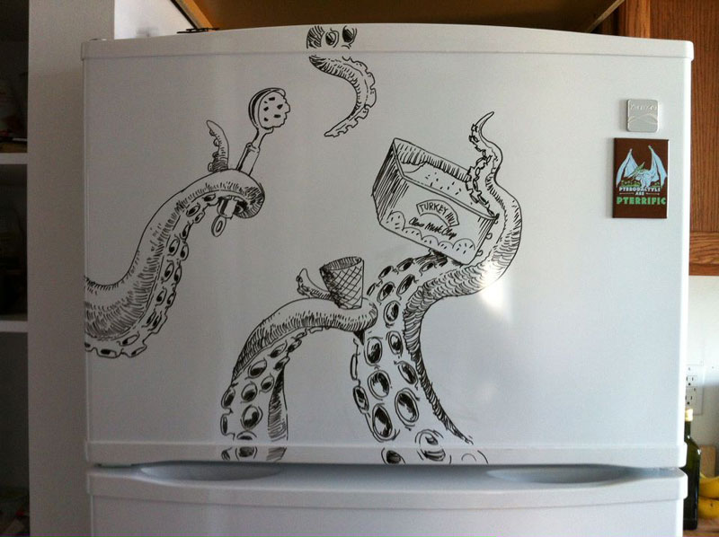 fridge drawings charlie layton freezer fridays (4)