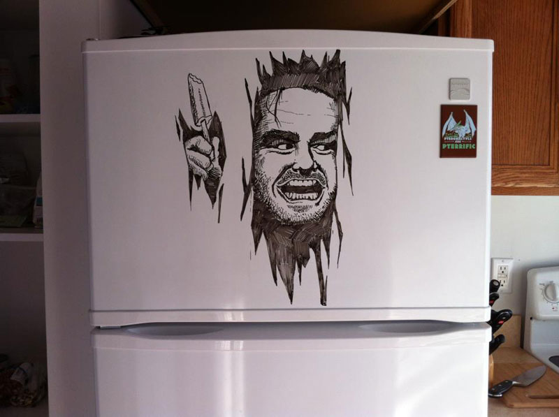 fridge drawings charlie layton freezer fridays 5 One Line Portraits by Quibe