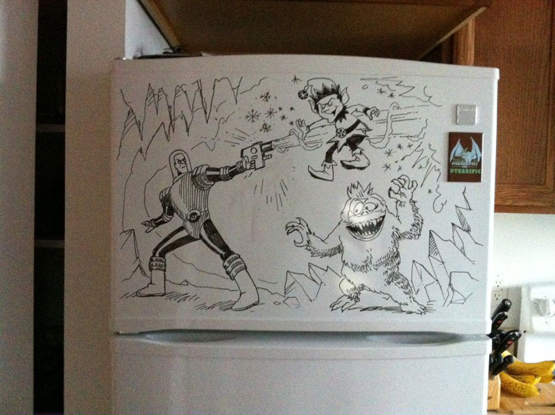 fridge drawings charlie layton freezer fridays (7)
