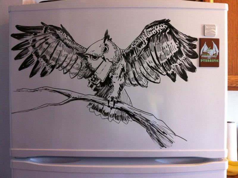 fridge drawings charlie layton freezer fridays (8)