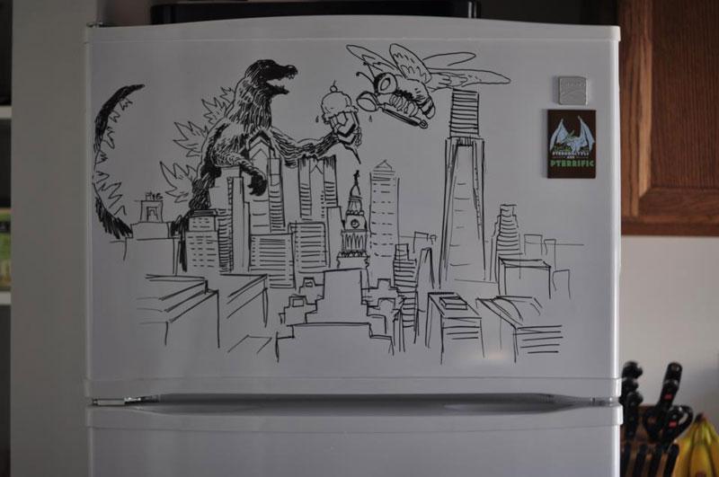 fridge drawings charlie layton freezer fridays (9)