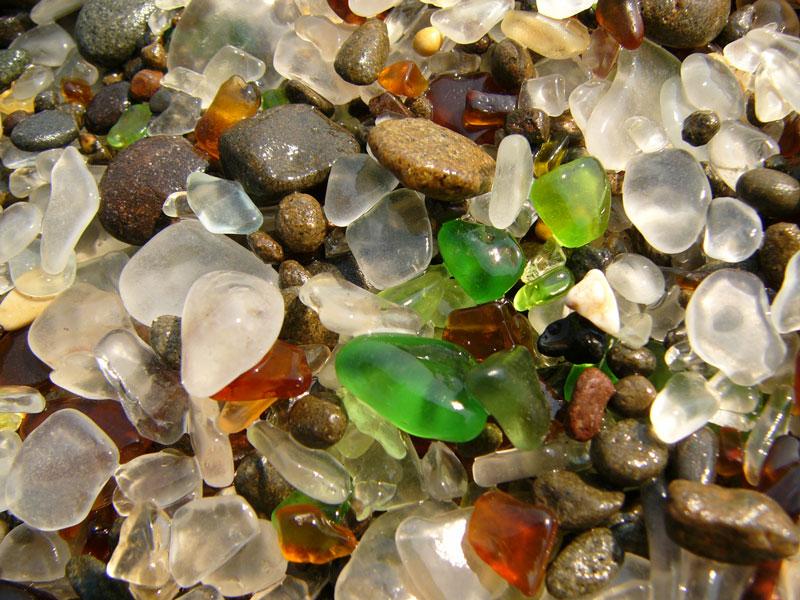 The Glass Beach inCalifornia