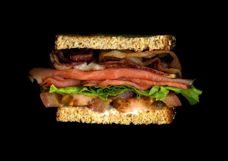 high quality cross section sandwich scans by jon chonko scanwiches 1 Creative Food Art Portraits by Hong Yi