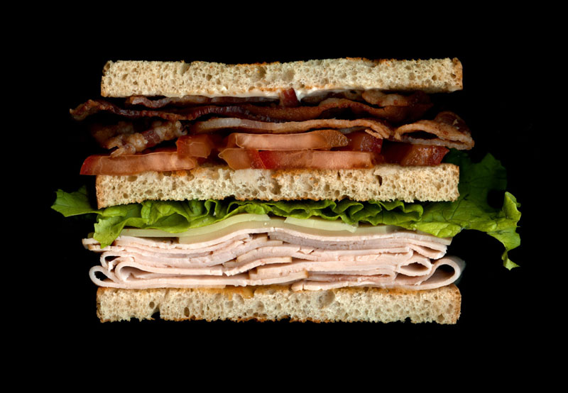 high quality sandwich scans by jon chonko scanwiches 12 Creative Cross Sections of Everyday Foods