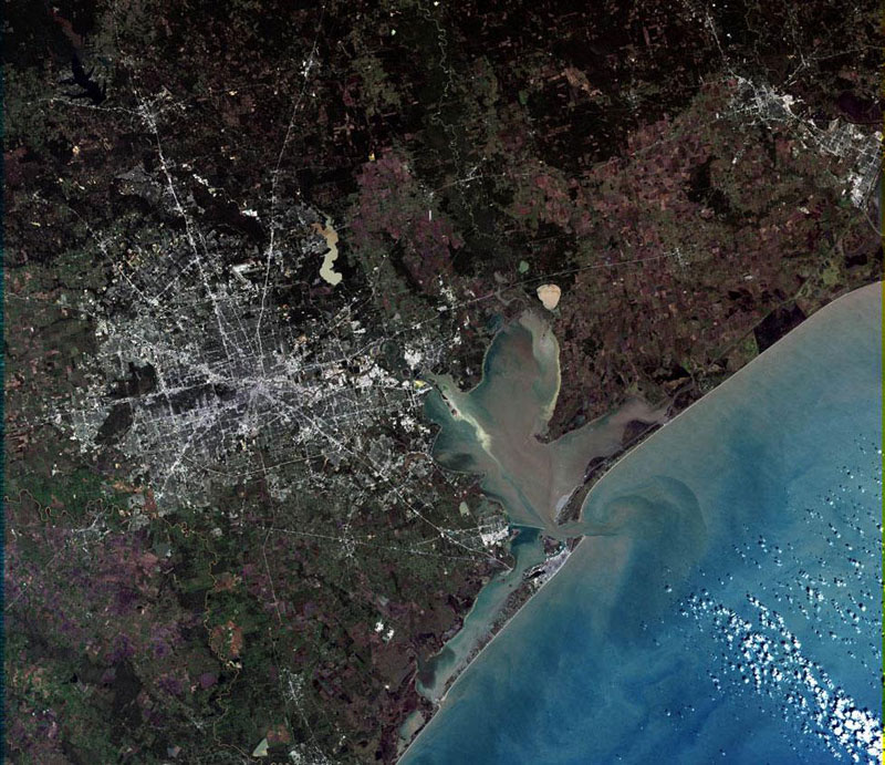 houston landsat satellite imagae 15 Surreal Satellite Images of Earth