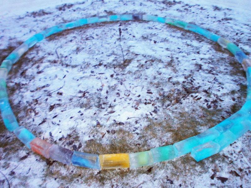 how to make rainbow colored igloo using milk cartons (2)