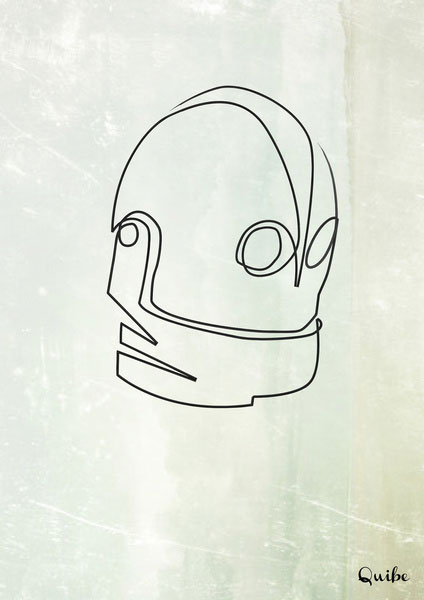 iron-giant one line portrait by quibe