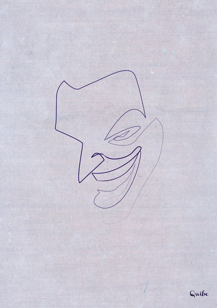 joker one line portrait by quibe