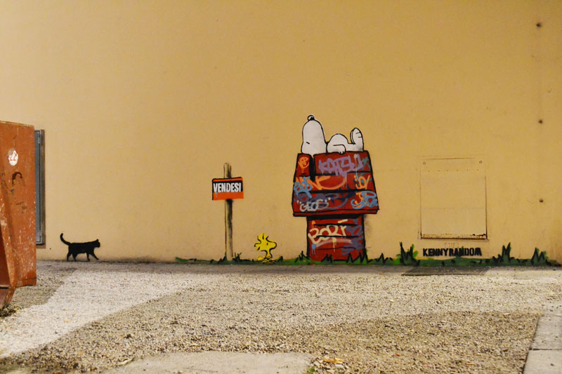 kenny random snoopy street art (1)