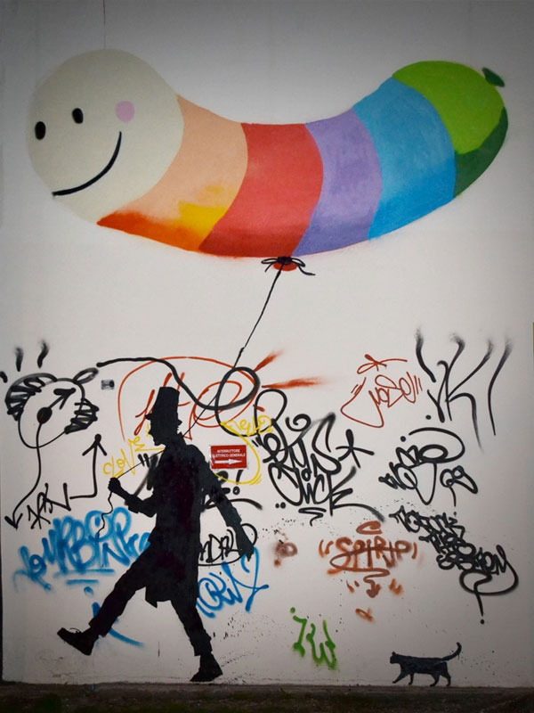 kenny random street art silhouette man (13)