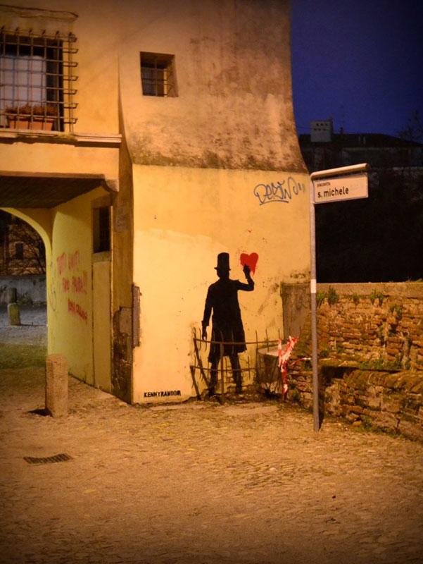 kenny random street art silhouette man (2)