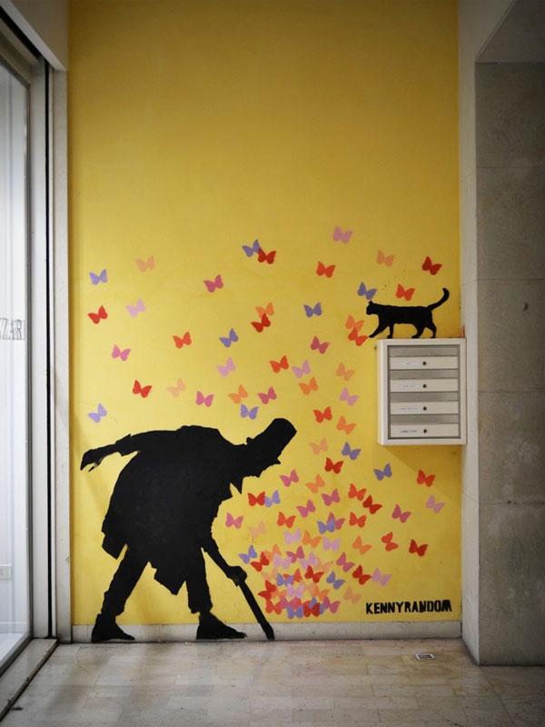 kenny random street art silhouette man (3)