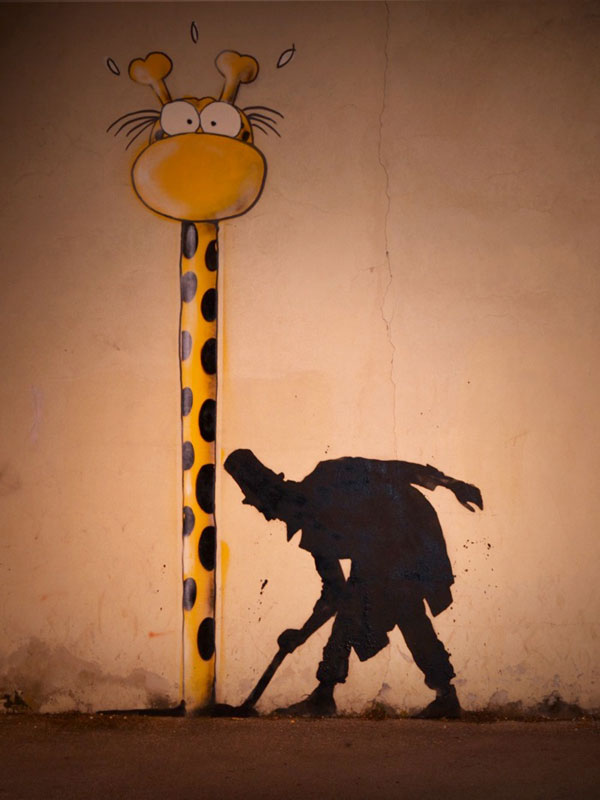 kenny random street art silhouette man (5)