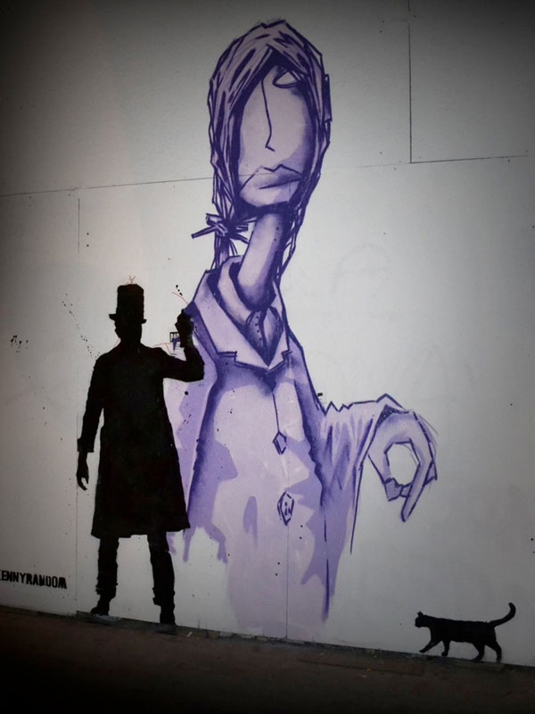 kenny random street art silhouette man (8)