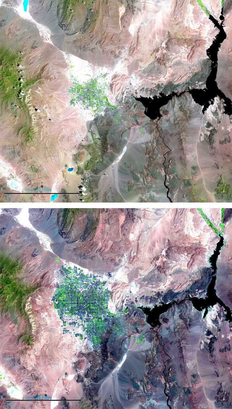 las vegas growth landsat 15 Surreal Satellite Images of Earth
