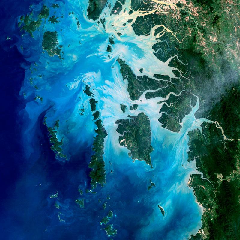 Mergui-Archipelago-Myanmar landsat satellite image