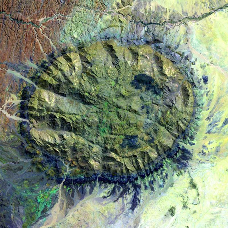 citra satelit landsat namibia-brandberg massif