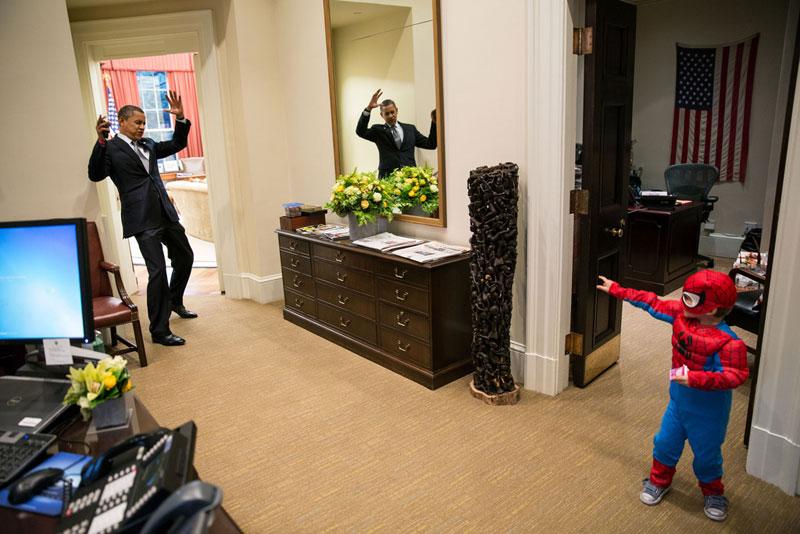 obama spiderman funny