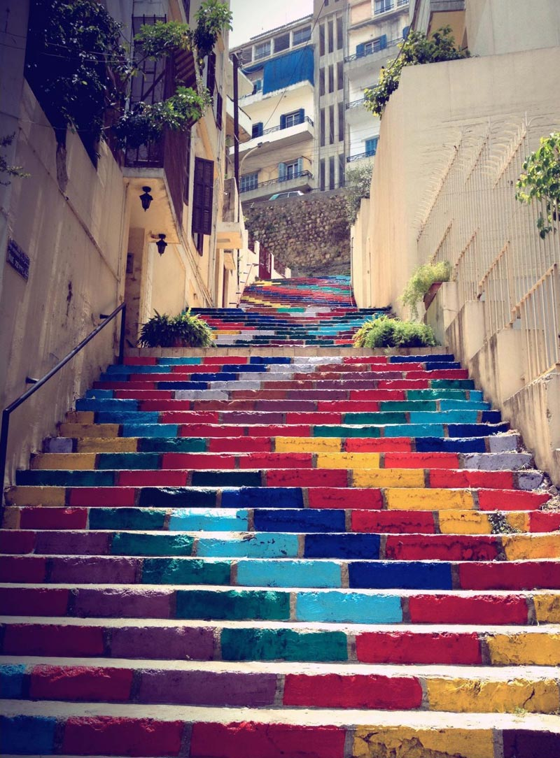 Picture of the Day: Rainbow-Coloured Stairs in Beirut ...