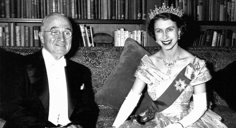 princess elizabeth with harry s truman canadian embassy nov 1 1951 Portraits of the Queen with the Last 12 U.S. Presidents