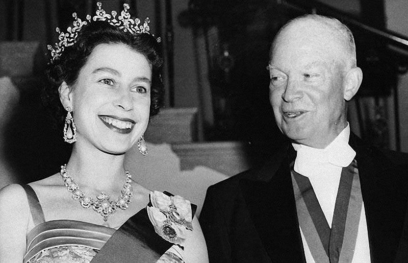 queen elizabeth dwight d eisenhower Portraits of the Queen with the Last 12 U.S. Presidents