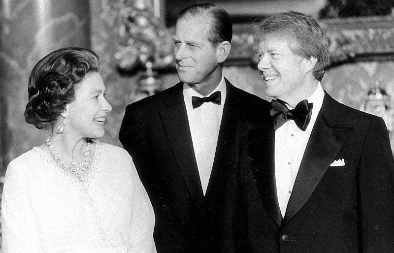 queen elizabeth jimmy carter
