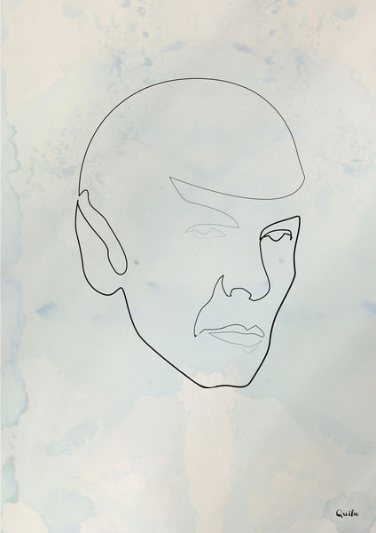 spock one line portrait by quibe