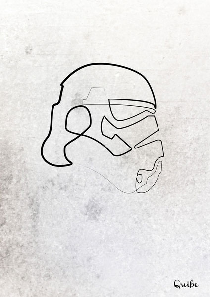 stormtrooper one line portrait by quibe