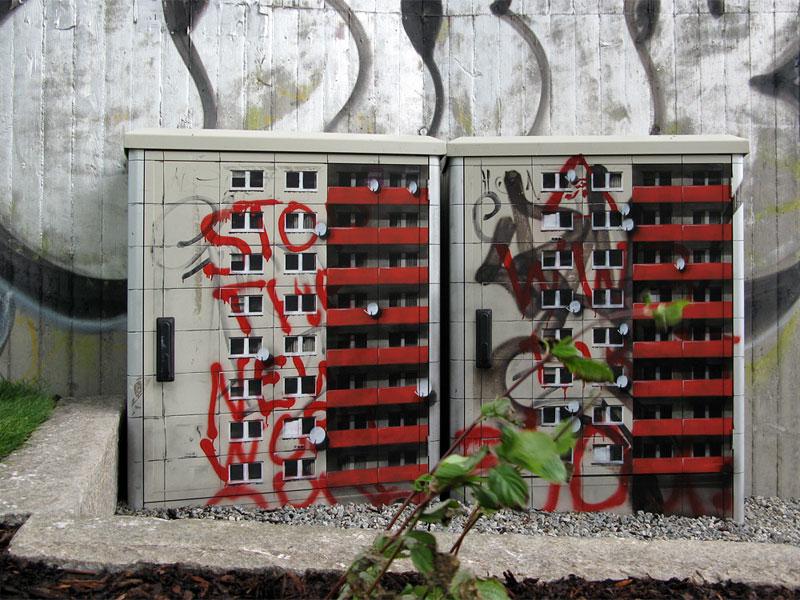 street art apartment building stencils by evol (2)