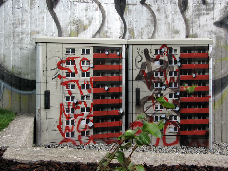 street art apartment building stencils by evol (2)