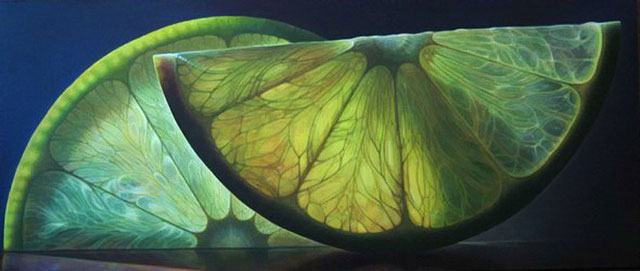 translucent oil paintings of fruit by Dennis Wojtkiewicz (1)