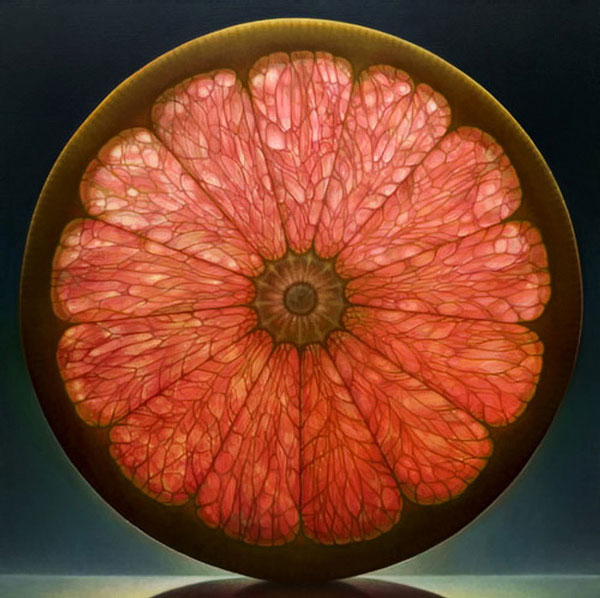 translucent oil paintings of fruit by dennis wojtkiewicz 10 Hyperrealistic Still Life Paintings by Roberto Bernardi