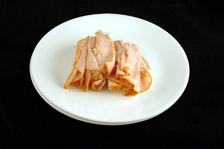 200 calories of sliced smoked turkey 204 grams 7 What 200 Calories of Various Foods Looks Like