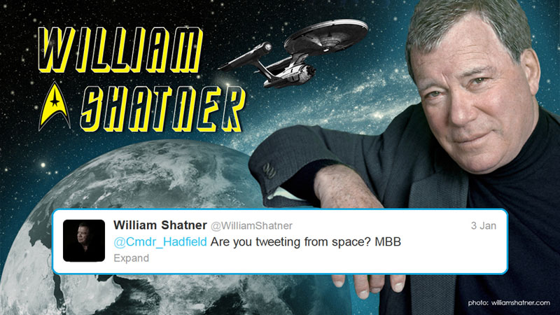 canadian astronaut chris hadfield tweets with star trek crew from space 11 This is What Happens When a Billionaire Loses a Bet