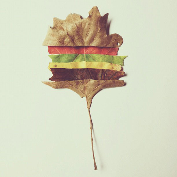 cheeseburger árvore brock davis instagram 17 Doodles brincalhão que incorporam Everyday Objects,en