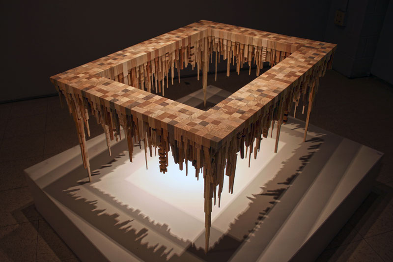 cityscape sculpture carved from wood james mcnabb (1)