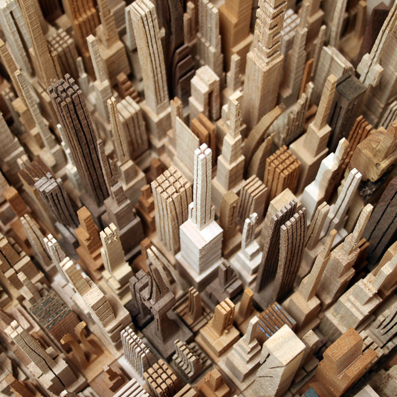 cityscape sculpture carved from wood james mcnabb (4)