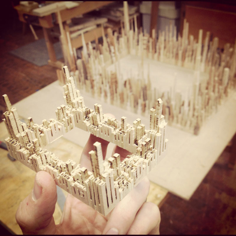 cityscape sculpture carved from wood james mcnabb (7)